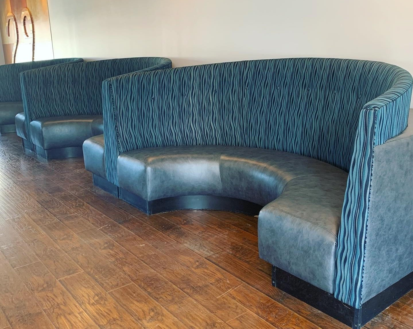 custom upholstered restaurant booths