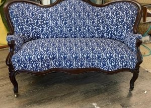 Antique Victorian loveseat