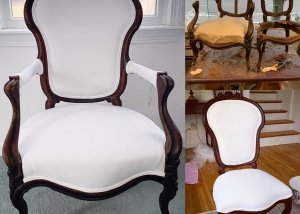 antique restoration while upholstery