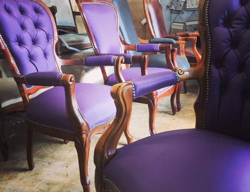 Antique purple chairs