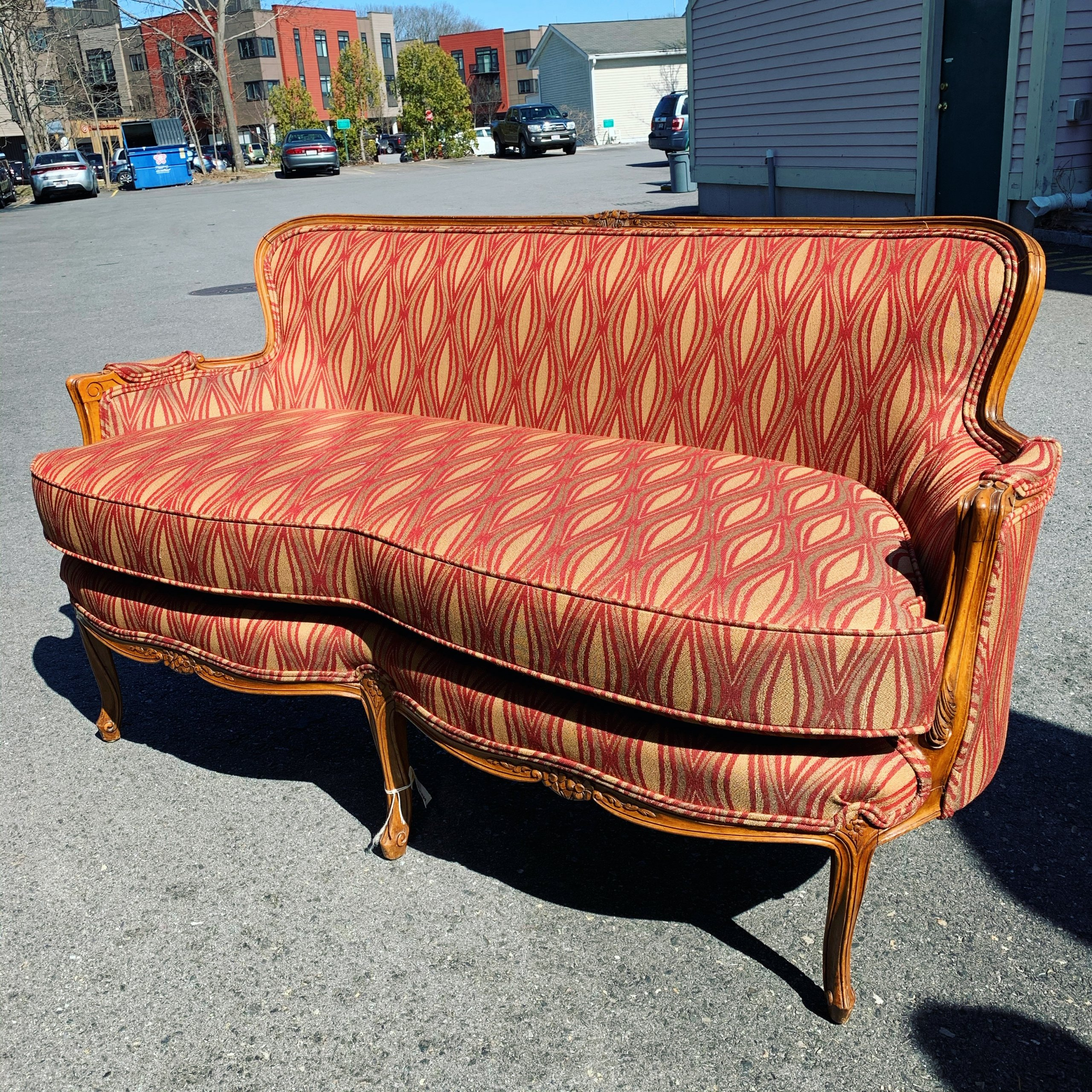 commercial upholstery coffee shop settee