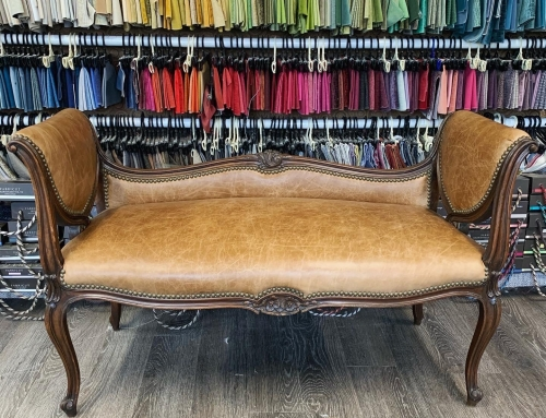 Charming leather settee