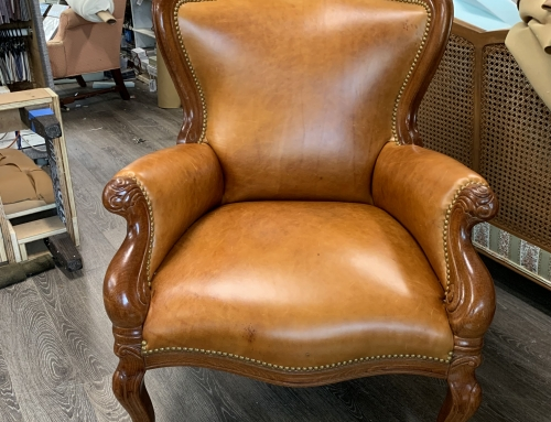 Leather restaurant chair