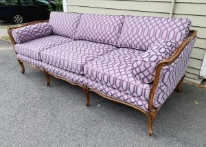 purple upholstery sofa