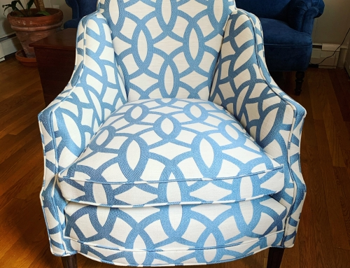 Antique Blue & White Chair
