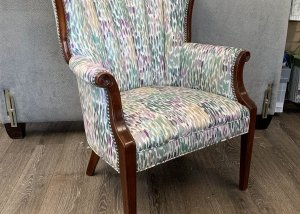 channel back upholstered chair
