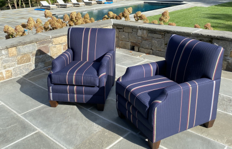 reupholstered patio chairs