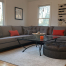 reupholstered wraparound sectional couch