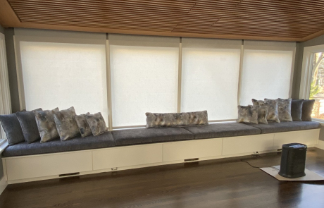 Upholstered sunroom bench cushions