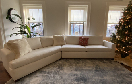 Sectional White Sofa