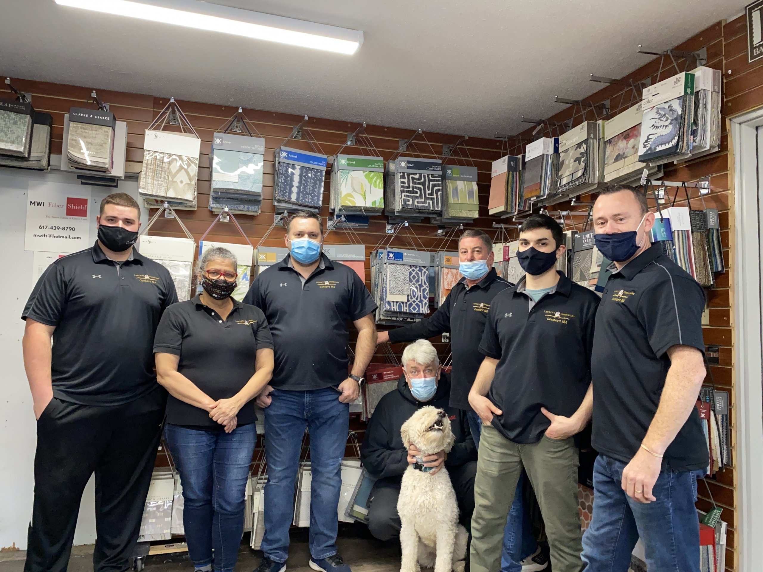 Lawless Upholstery team