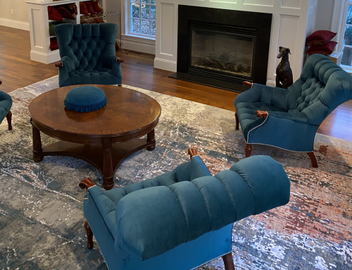 Blue Fireplace Chairs
