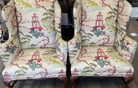 Japanese garden upholstered chairs